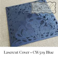 Navy Blue Wedding Invitations Blue Wedding Invitation Cover Lasercut Mycards Cw519