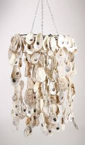Sea Glass Chandelier Lighting Project Week With Creative Oyster Shell Chandelier