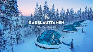 norway northern lights igloo official kakslauttanen arctic resort in wintertime youtube