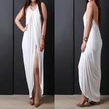 white swallowtail tie back halter neck slit backless plus size