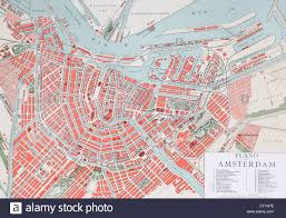plan of amsterdam holland at the turn of the 20th century map