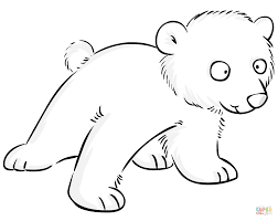 cute polar bear baby coloring page free printable coloring pages