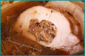 comment cuisiner roti de porc rôti de porc farci aux pruneaux et aux chignons de binôme