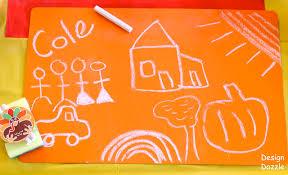 diy chalkboard paint contact paper placemats design dazzle
