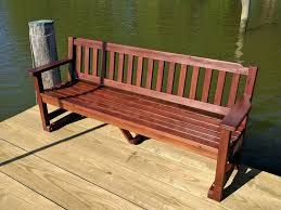 Picnic Table With Benches Redwood Picnic Table With Detached Benches Red Bedroom Bench Zoom