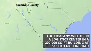 Greenville Sc Map New York Manufacturer To Expand Into Greenville