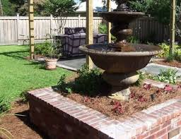 Tiered Backyard Landscaping Ideas Fountain Pictures Gallery Landscaping Network