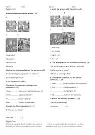 399 present continuous worksheets and lesson plans free and