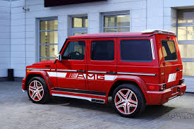 mercedes benz jeep red g63 amg with hamann body kit and topcar interior is a red russian