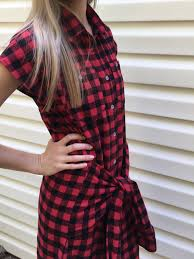 Halloween Flannel Fabric Tie Front Flannel Shirt Dress Tutorial Learn How To Create A