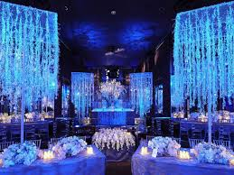 navy blue wedding reception decoration fall party decorating ideas