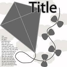 free kite digital scrapbooking template bellerose digital design