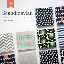 large capacity photo albums square printed linen cover scandinavian style creative gift diy
