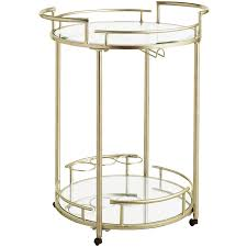 Cart Champagne Round Bar Cart Pier 1 Imports