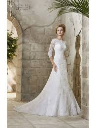 lace wedding dress with sleeves mori 2776 allover ivory lace wedding gown with sleeves