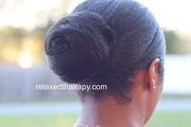 hair nets for buns 14 sleek bun on relaxed hair transitioning hair