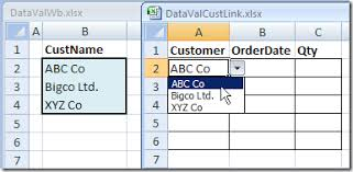 excel drop down list from different workbook contextures blog