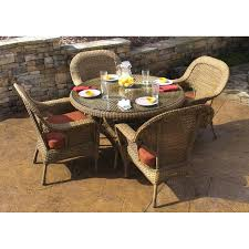 shop tortuga outdoor lexington 5 piece mojave glass patio dining