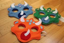 triceratops felt dinosaur mask for kids