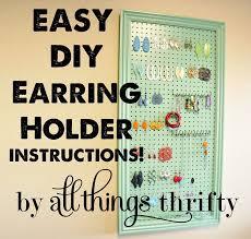 organize stud earrings diy earring holder infarrantly creative