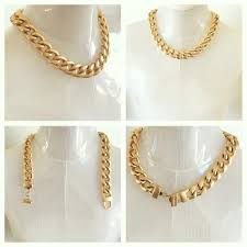 curb chain necklace fashion images Buy givenchy yellow gold rhodium plated curb chain necklace at JPG