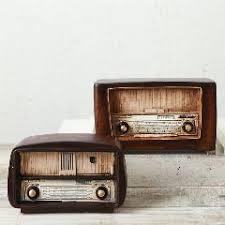 Nostalgia Home Decor Loft Style Resin Radio Model Antique Imitation Nostalgia Wireless