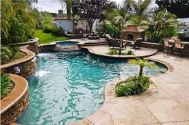 Backyard Pool Landscape Ideas The Rich Aqua Of The Pool And The Multi Layered Bring Just