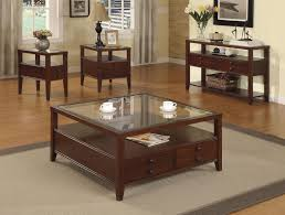 romantic glass top square coffee table with wooden pedestal coffee