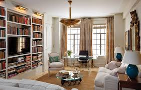 home decoration living room decoration with bookshelves