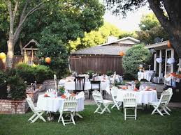 Wedding Ideas For Backyard Inexpensive Backyard Wedding Ideas Intended For