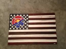 wooden maltese cross custom usa flag with a fighter symbol wood pallet