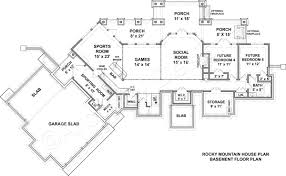rocky mountain lodge mountain house plan rustic home plan