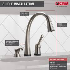 touch sensitive kitchen faucet 980t sssd dst single handle pull kitchen faucet with