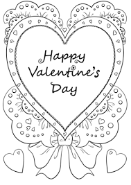 happy valentine u0027s coloring free printable coloring pages