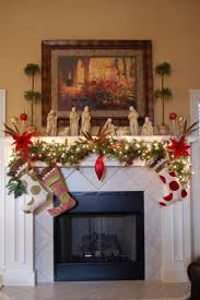 simple christmas decorating ideas for fireplace mantels home decor