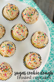 sugar cookie dough frosted cupcakes u0026 eggless sugar cookie dough