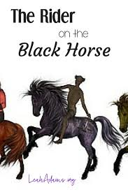 the rider on the black horse