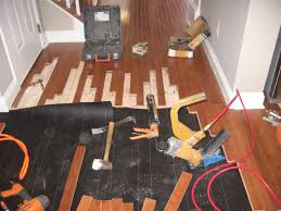 floor laying hardwood floors on floor how to install nail down