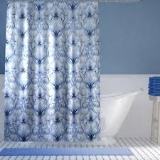 Blue Damask Shower Curtain Ikat Shower Curtains You Ll Wayfair