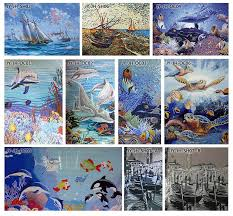 hf jy jh oc04 new style magic sea world design ocean glass mosaic