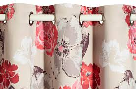 Paris Fabric Shower Curtain by Curtain Fabric Floral Pattern Satin Polyester Garance