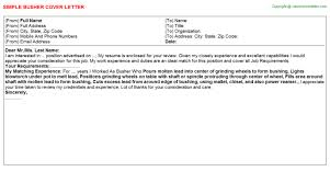 part time theatre usher cover letters