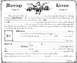 marriage license clipart etc