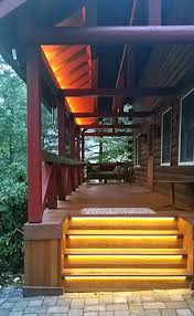 Exterior Led Strip Lighting Step And Eave Lighting Using Waterproof Led Strip Lights