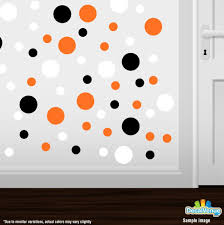 black orange white polka dot circles wall decals decal venue black orange white circle polka dots decal stickers decal venue