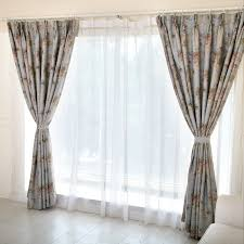 Blue Floral Curtains Light Blue Floral Curtains Of Printing Workmanship