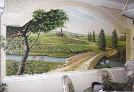 tommy simpson the artist galleries page call 843 997 7307 wall mural in a residence hall mural of french countryside in a residence myrtle beach sc