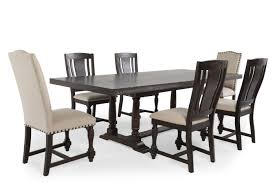 espresso dining room set 7 piece espresso dining set mathis brothers
