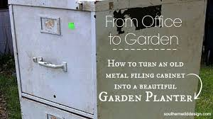 Upcycled Metal Filing Cabinet From Office To Garden Filing Cabinet To Garden Planter Hometalk