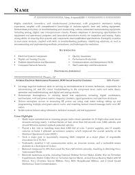 Security Engineer Resume Electrical Resume Sample A Resume Template For An Electrical